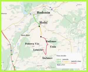 Mapa závodů